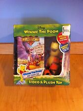 Disney Winnie the Pooh Video and Tigger Plush Toy~ New *
