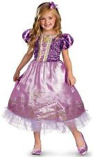 Rapunzel Sparkle Disney Princess Tangled Fancy Dress Up Halloween Child Costume