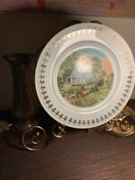 Currier &Ives Limited Edition Collectors Plate~SUMMER~Porcelain~Gold