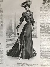 French MODE ILLUSTREE SEWING PATTERN June 30,1901 PRINCESS DRESS