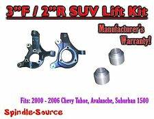 "2000 - 2006 Chevrolet Suburban Tahoe Avalanche 1500 2WD 3"" / 2"" Lift Kit Spindle"
