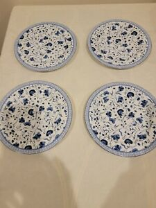 Ralph Lauren Macao White And Blue Floral Salad Plates Set Of 4 NWT Beautiful!