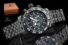 Invicta Men's 53mm Sea Base Black Titanium Swiss Qrtz Chronograph Bracelet Watch