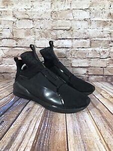 Puma Fierce Core Black Sneakers 18897701 Women's Size 10 Shoes Mid Top Slip On