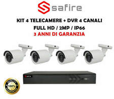 KIT SAFIRE 4 TELECAMERE BULLET 2MP FULLHD + DVR 4 CANALI 3 ANNI DI GARANZIA