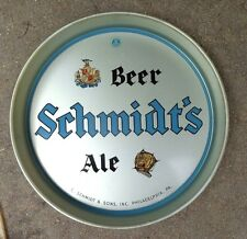 old Schmidt Beer Ale large tin litho serving tray