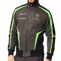 Lamborghini Squadra Corse Mens Zip-up Sweatshirt Jacket Black GT GT3 Team Racing