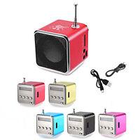 TD-V26 Micro Speaker Portable Micro SD/TF Music Player Sound FM Radio BBC