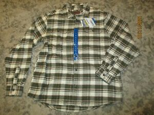 Orvis Heavy Weight BIG BEAR Flannel Shirt GREEN PINE 3LC Plaid Size Large - NWT