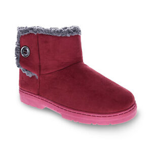 Orthaheel Orthotic Fluffy Slippers Womens - Wine