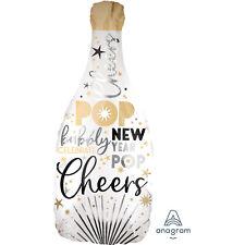Feliz Año Nuevo Globo Blanco Champán Botella Decoración Fiesta Cheers Pop