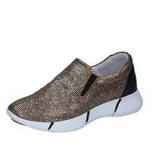 scarpe donna ELENA IACHI 36 EU sneakers nero oro pelle glitter BT588-36 bf14f3fba31