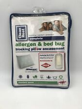 Clean Rest Blocking Pillow Encasement Allergen & Bed Bug Standard/Queen New