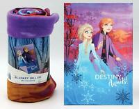 Disney Frozen II 150cm x 100cm Childrens Soft Polar Fleece Throw Blanket 53109