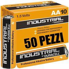 50 Batterie Duracell Industrial Procell Pile Alcaline Stilo AA  LAP
