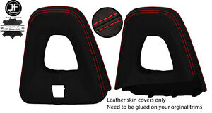 RED STITCHING ROLL OVER BAR REAL LEATHER COVERS FOR FIAT 124 SPIDER 2016-2020