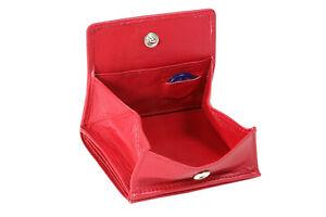 Wiener Schachtel Geldbeutel Börse großes Kleingeldfach LEAS, cherry/rot uni