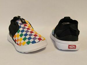 Vans New Extreme Ranger Checkerboard Rainbow/True White Vault Toddler Size USA 5
