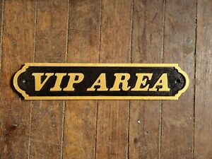VIP AREA GOLD AND BLACK 46CM LONG SIGN NEW HOME BAR
