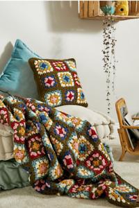 Sicacik Bisey Urban Outfitters Handmade Multicolour Crochet Throw Blanket £135