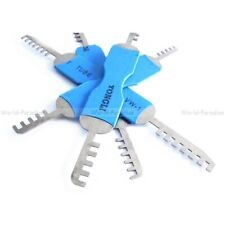 lockpicking tension tools comb pick set unlocking opener locksmith crochetage !!