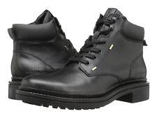 Calvin Klein Jeans Men's Kole US 13 M Black Leather Military Boots $150.00