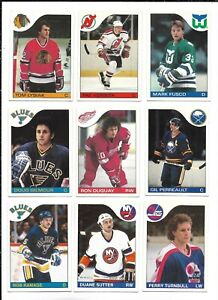 1985-86 OPC Hockey:Lot of 9 different