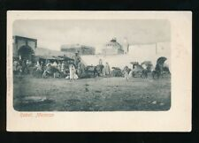 Morocco RABBAT local gathering at city gates c1902 u/b PPC