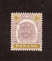 Pahang - SG# 16 MH / wmk crown CA   -    Lot 1220808