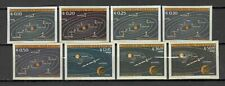 s22730) PARAGUAY SPACE 1962 MNH** Solar system 8v. IMPERFORATED