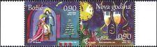 Bosnia Herzegovina 2014 Christmas/New Year/Greetings/Nativity/Clock 2v (b2756g)