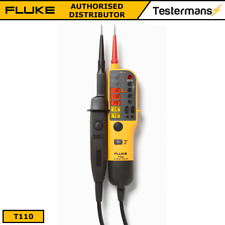 Fluke T110 Voltage & Continuity 2 Pole Tester With RCD Trip Test