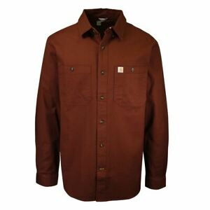 Carhartt Men's Solid Rugged Flex Rigby Relaxed Fit L/S Woven Shirt