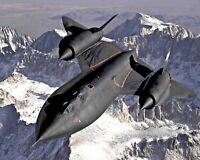 Lifetime Quality . Lockheed SR-71 Blackbird in flight photo. 11x14 Print