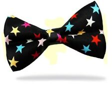 PRICED TO CLEAR! Mens Pre-Tied Adjustable Multi Stars Polyester Satin Bow Tie