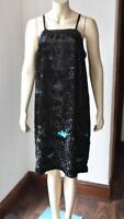 ANTHROPOLOGIE Moulinette Soeurs Black Sequin Dress RRP £218 size 12 BNWT #50