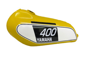 Yamaha 250 DT/400 DT Enduro 1975 to 1977 Yellow Painted Aluminium Petrol Tank