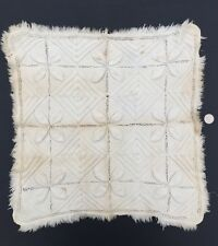 Antique Doll Crib Quilt From American Folk Art Museum Collection. White Appliqué