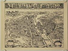 Affiche Carte VILLE DE PARIS - Melchio Tavernier 1030 Reproduction
