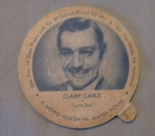 Original 1950's Clark Gable Arctic  Dairy Ice Cream Cup Trading Card