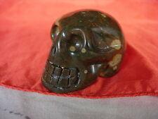 Crystal skull orbicular jasper se007