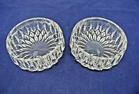 "CRYSTAL BERRY BOWLS, UNKNOWN MAKER, LOT OF TWO, BEAUTIFUL, 4-1/2"" X 1-3/4"""