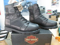 Harley Davidson Men's Leather Waterproof Boots Shoes Medium Black FXRG5 FXRG-5