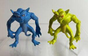Vintage MOTU Blackstar Alien Demon Action Figures Yellow & Blue Galoob