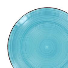 Set of 8 Round Swirl Design Stoneware Dinner Plates Dinnerware Dishes 10.5 inch