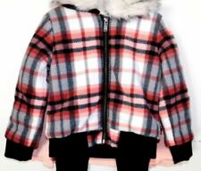 New Tommy Hilfiger Girls plaid Jacket & shirt Size 5