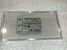 The Doors 1968 Asbury Park Convention Hall Concert Ticket Stub Jim Morrison Usa