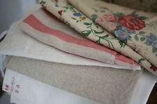 BUNDLE vintage CUT fabrics FLORAL design WASHED lot CRAFT