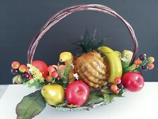 Decorative Artificial Fruit Basket. Silk Flower Floral Arrangements