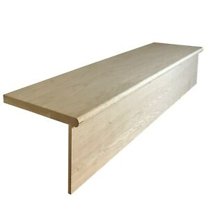 Solid Oak Stair Tread & Riser Cladding Kit 22x270x1000mm